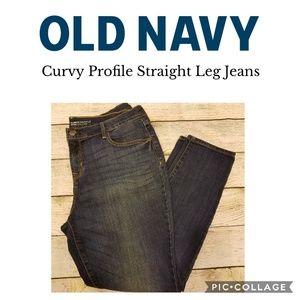 Old Navy Dark Wash Curvy Profile Jeans